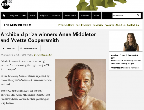 Archibald prize winners Anne Middleton and Yvette Coppersmith Interview